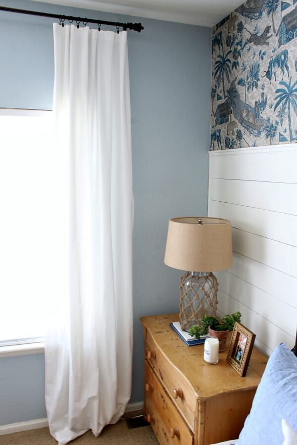 When designing a master bedroom curtains and their height and width play a major role in giving you the designer look you are after.