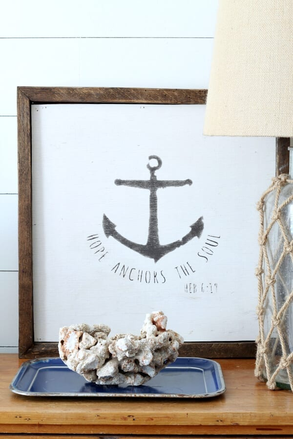 Want a coastal cottage style room? Try adding real coral and shells add a personal touch to any space!