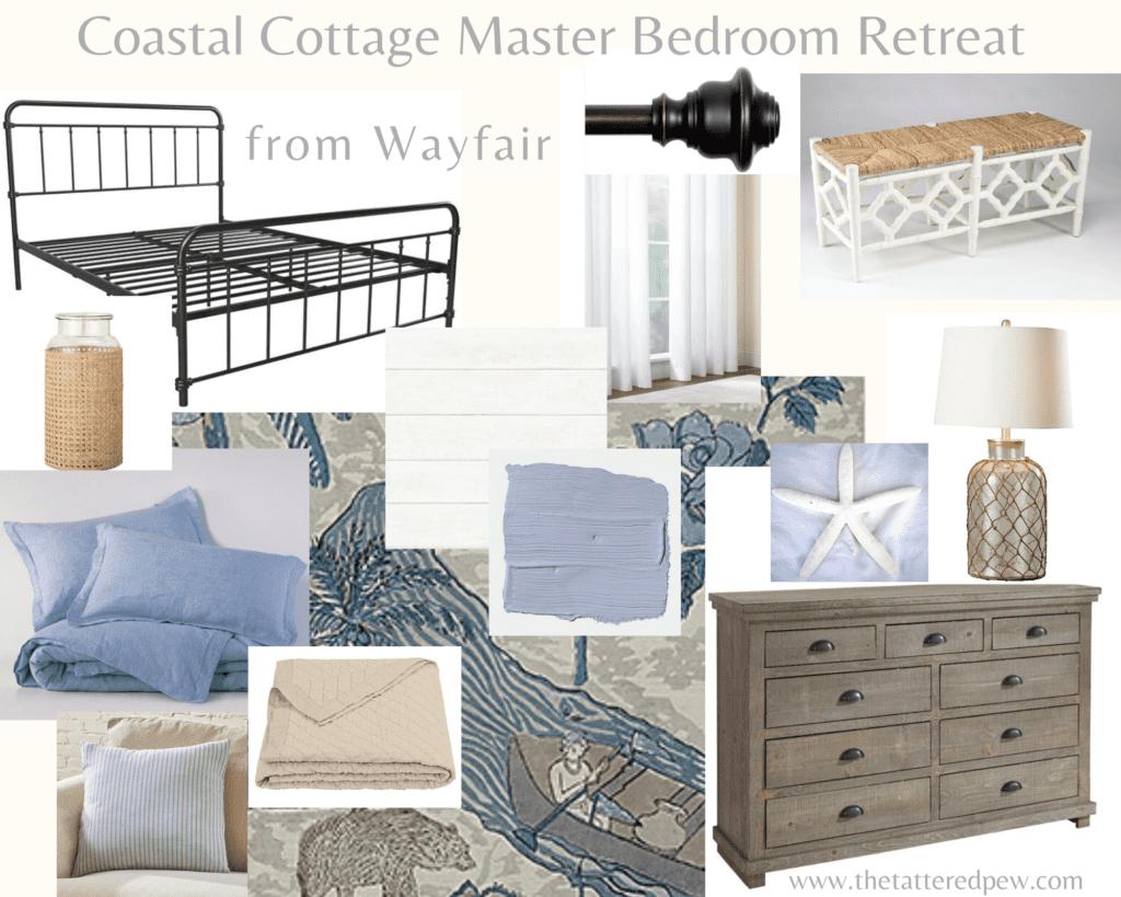 Coastal Cottage Master Bedroom Retreat