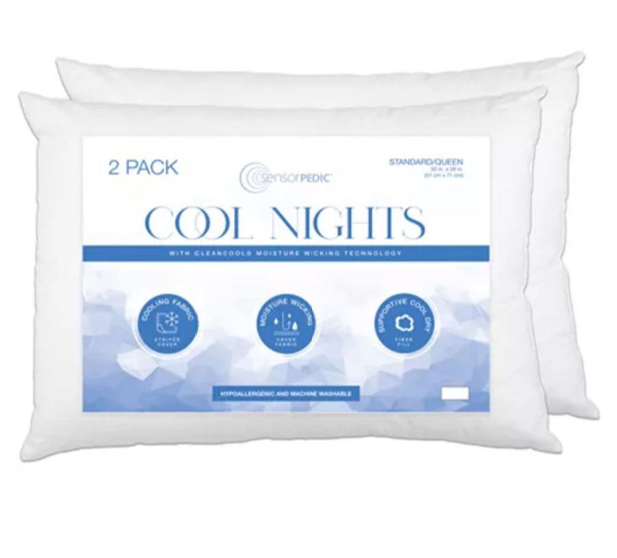 2 pack of cooling pillows from Macy's