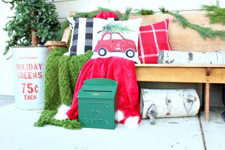 Our Cozy Christmas Porch