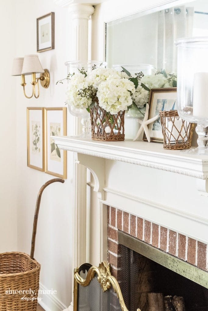 Welcome Home Sunday: How to creat a summer mantel with character
