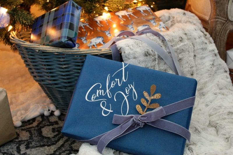 How to get creative with holiday gift wrap using your Cricut machine...even if you are a beginner!