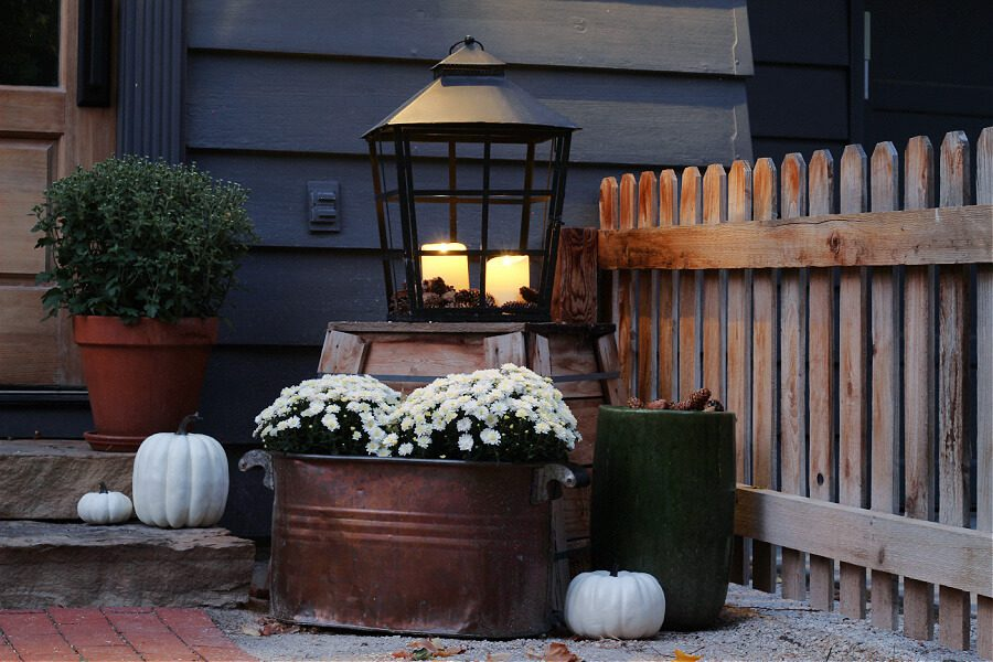 Moody and romantic Fall decor for our small steps.