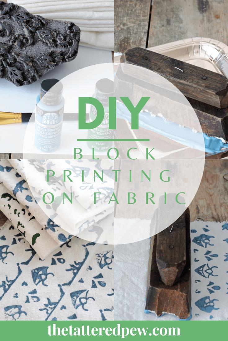 Fall in love with DIY block printing on fabric!