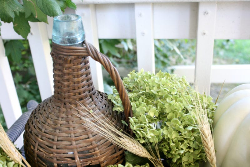 How to style and decorate a vintage planter.
