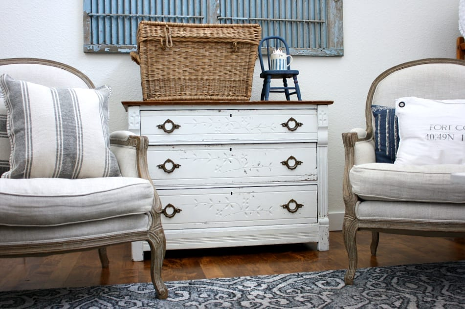 Old dresser makeover using milk paint. You won't believe the before!