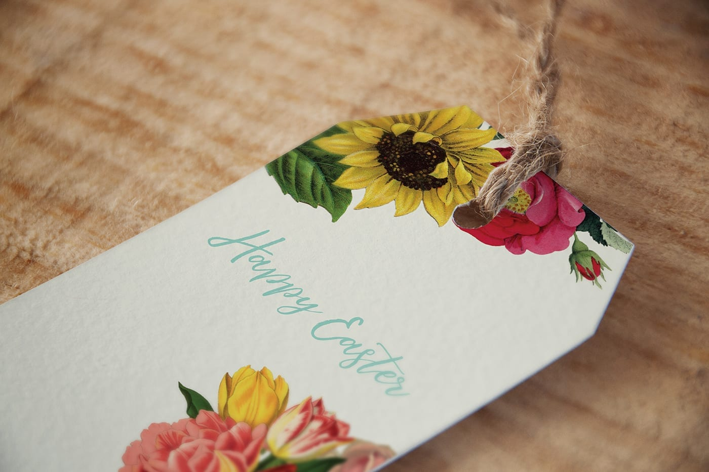 Floral gift tags-wildflowers
