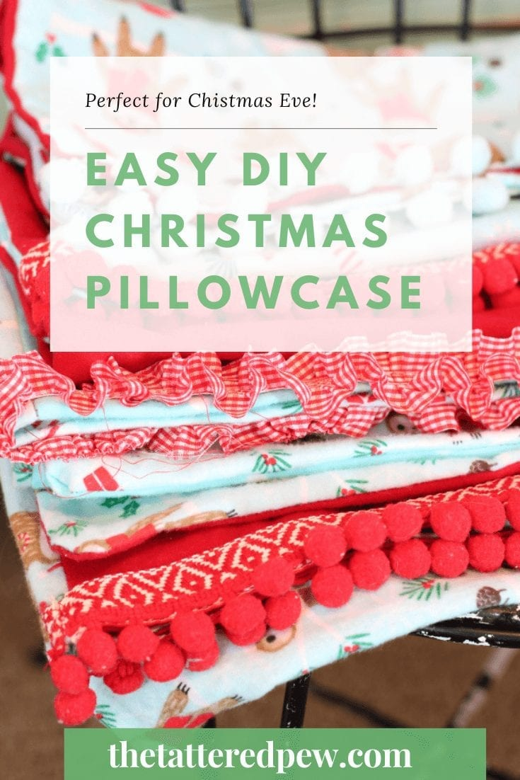 Why not start a new Christmas tradition by making these easy DIY Christmas pillowcase this year?