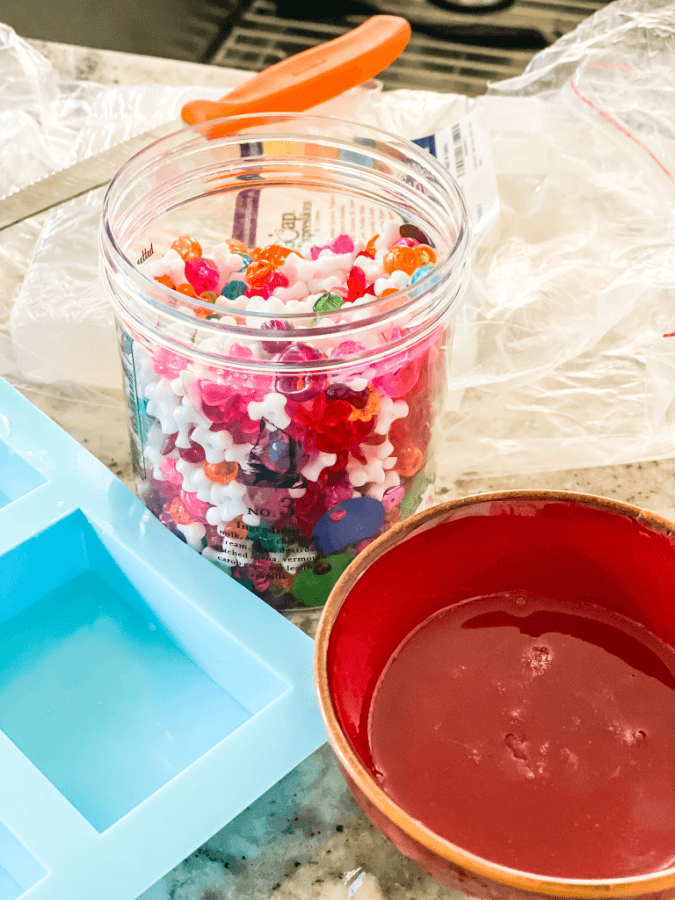 Everything you need to make Easy homemade Christmas soaps for kids!