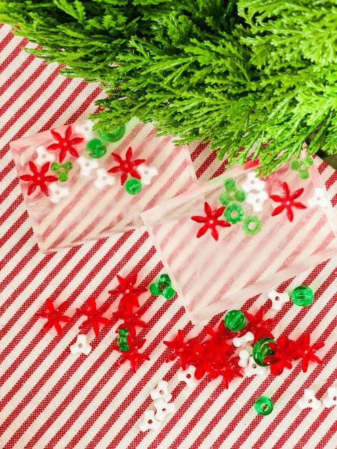 These easy homemade Christmas soaps are perfect for even your youngest Christmas enthusiast to make as gifts!