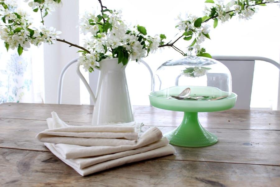 Beautiful and soft drop cloth napkins.