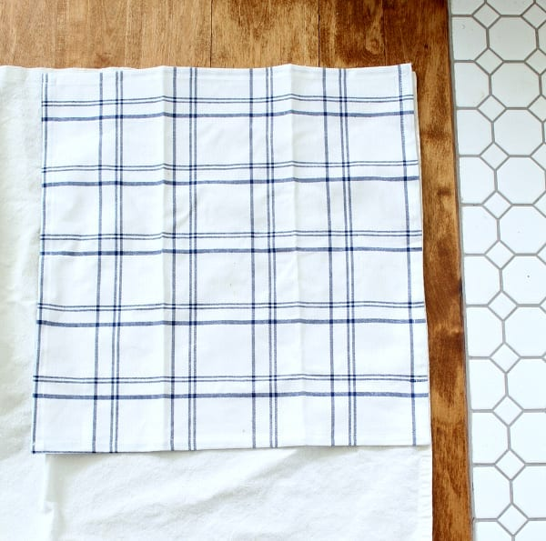 These easy no-sew drop cloth napkins are simple to make.