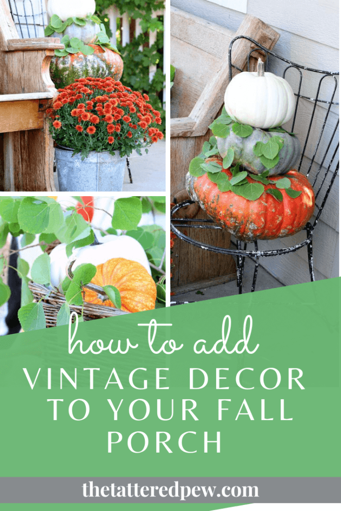 How to add vintage decor to your fall porch!!