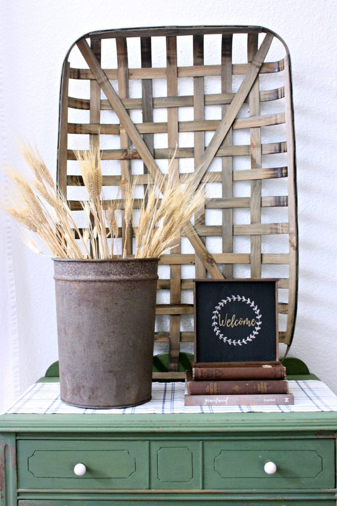 Wheat is always a good Fall decoration.