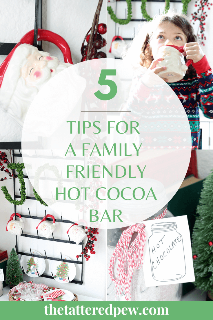 These 5 tips for a family friendly hot cocoa bar will have you creating your own in no time!
