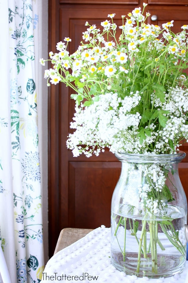 Gorgeous flowers are the perfect centerpiece for tea.