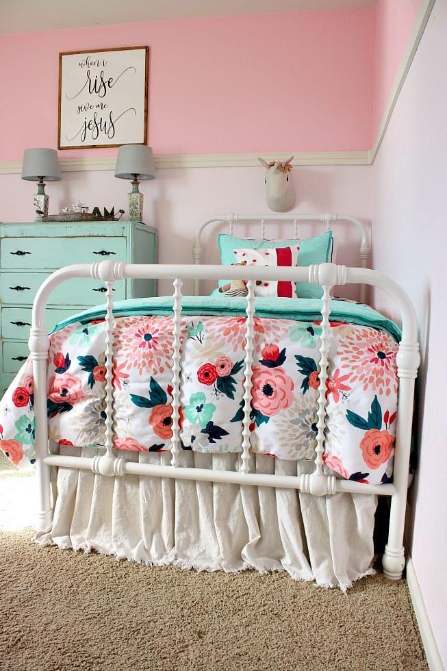 Jenny Lind Bed Walmart-Shared girls room makeover.
