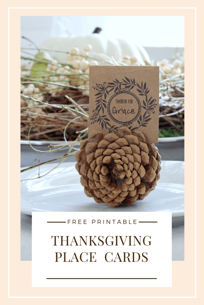 Thanksgiving place cards perfect for any get together with your guests.