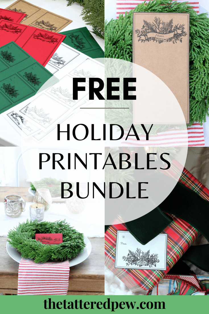 You will love this free holiday printables bundle!