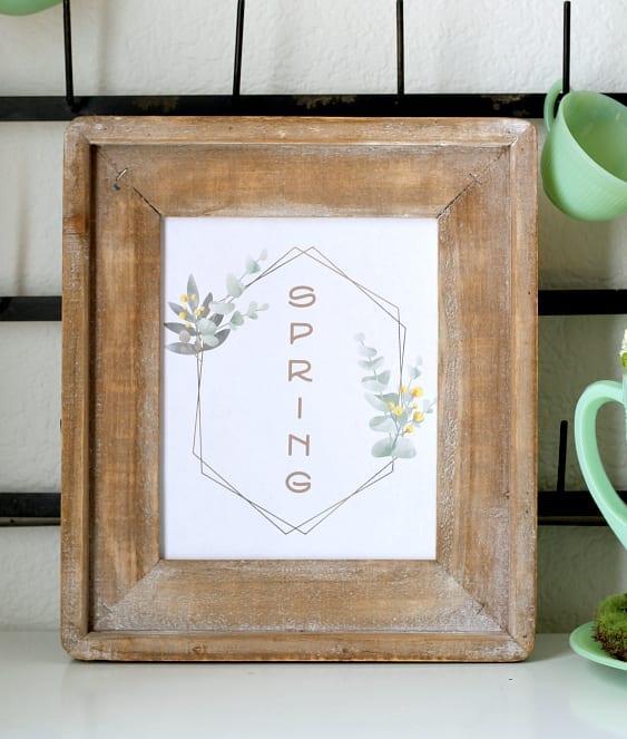 Free modern farmhouse Spring printable.