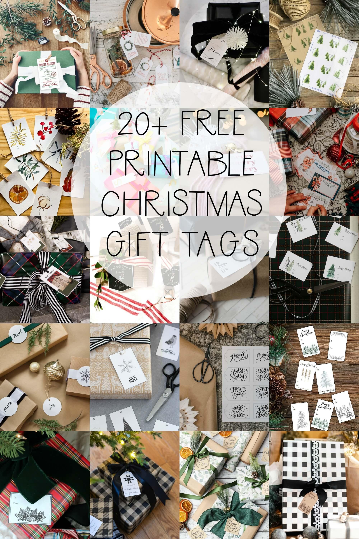 20+ Free printable Christmas gift tags perfect for the holidays!