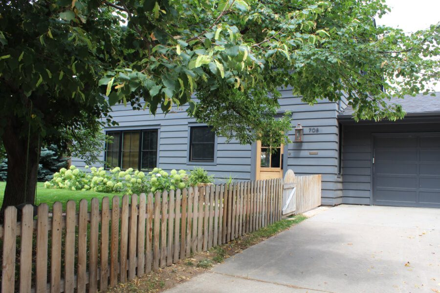 Come take a tour of our front yard...wooden picket fence and all!