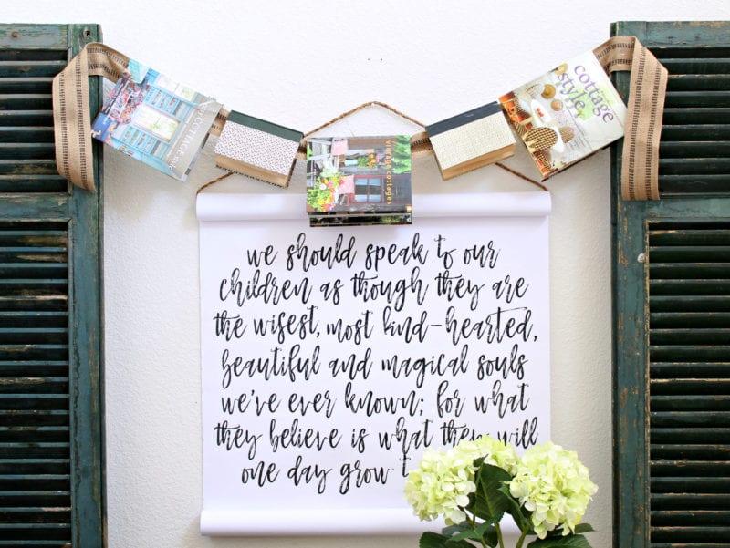A fun and simple DIY book garland. #garland #books