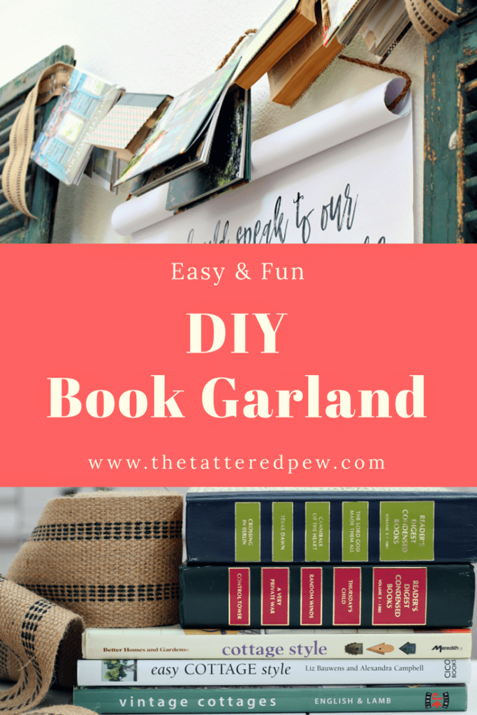 How to create a DIY book garland. #DIY #decoratingwithbooks #easygarland
