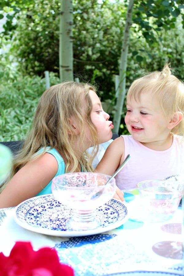 Sweet memories at eh garden tea party!