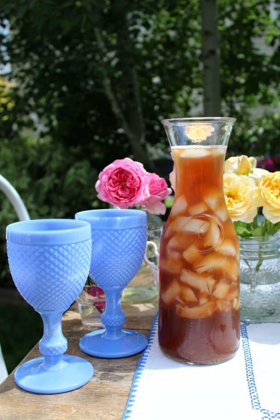 Graden tea parties in the summer can have iced tea too!
