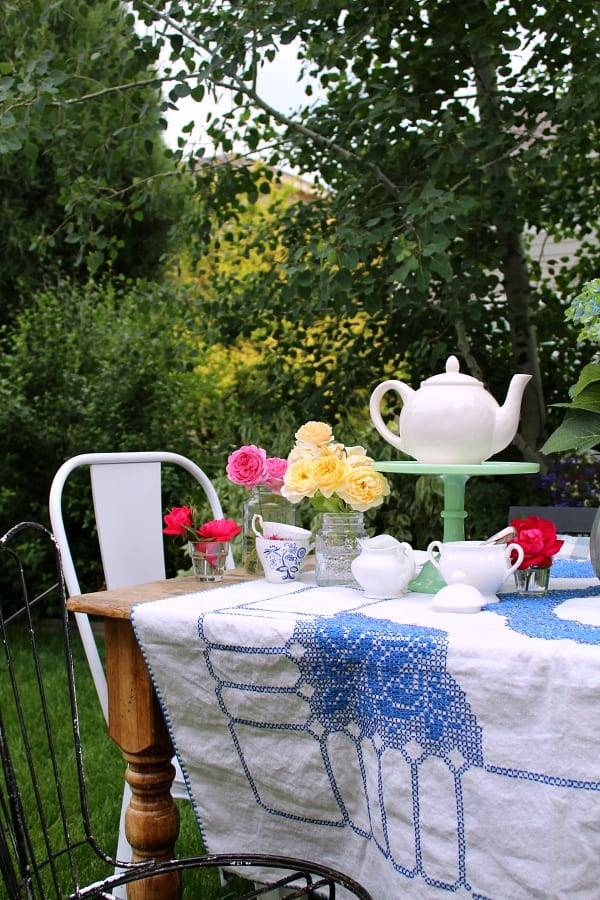 WHy not bring the tea party outside?