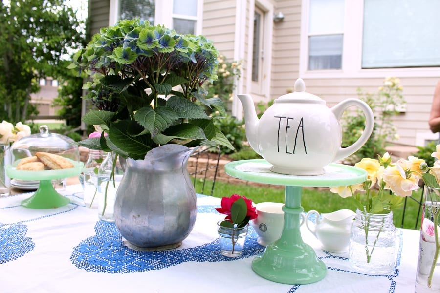 Be prepared to serve both hot and cold tea at your garden tea party.