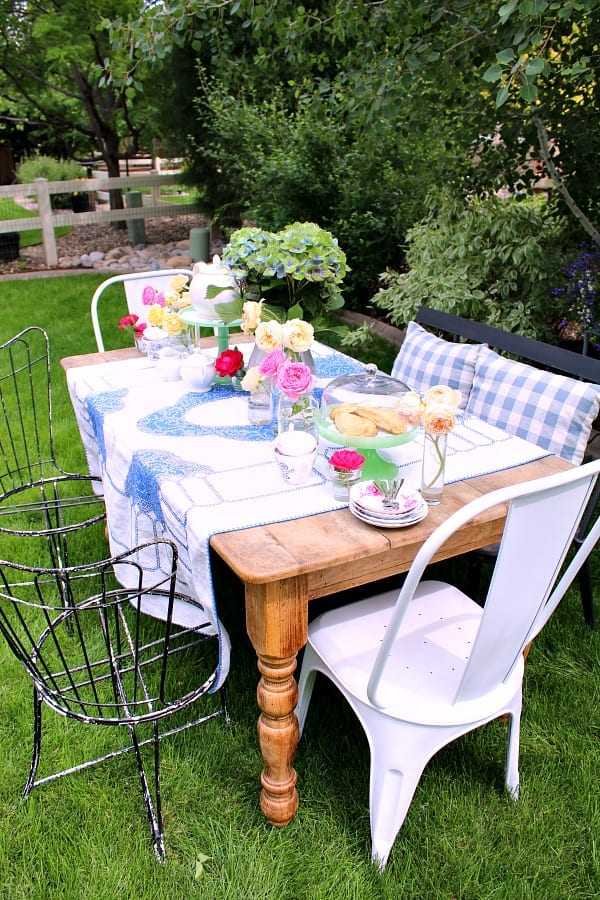 Hosting an outdoor tea party in your garden should be on your bucket list!