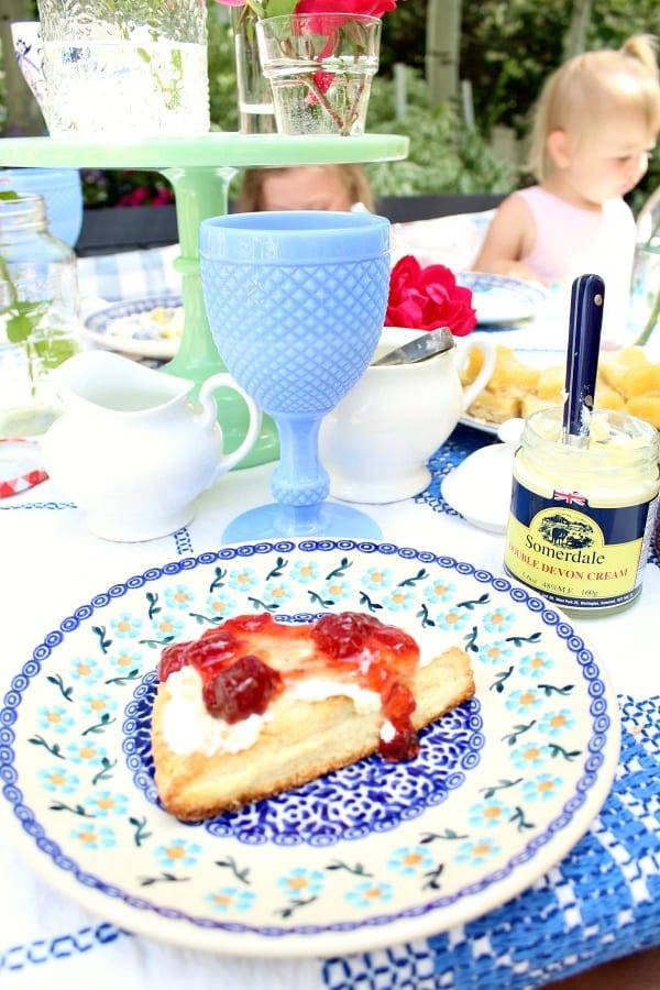 Sconeas are a must even at a garden tea party!