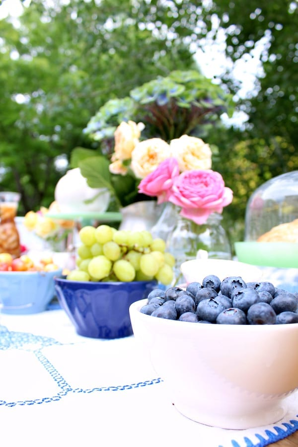 Fruit adds the perfect amount of color and flavor to any tea party.