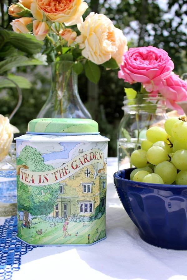 Tea in the garden, a perfect summer activity.