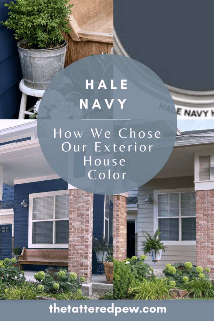Picking paint can be hard. Come learn how we chose Hale Navy, for our exterior paint color!