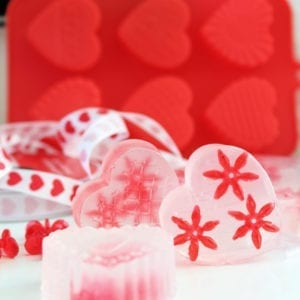 Heart shaped soap for Valentine's Day!