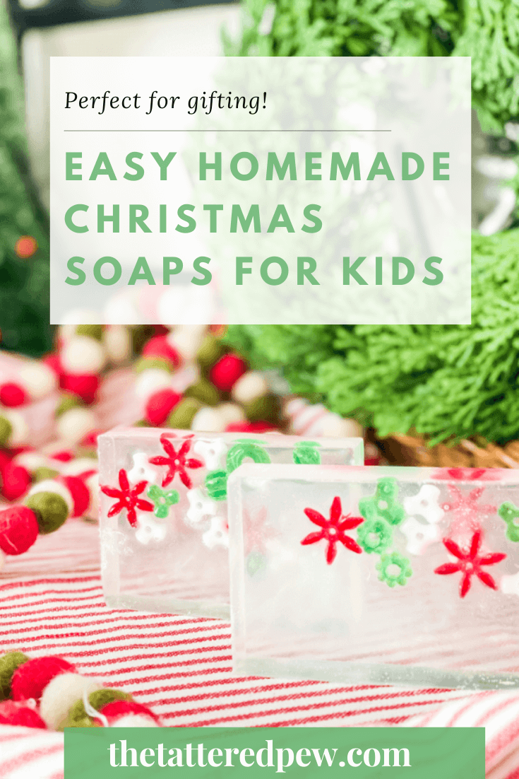 You will fall in love with these easy homemade Christmas soaps for kids!