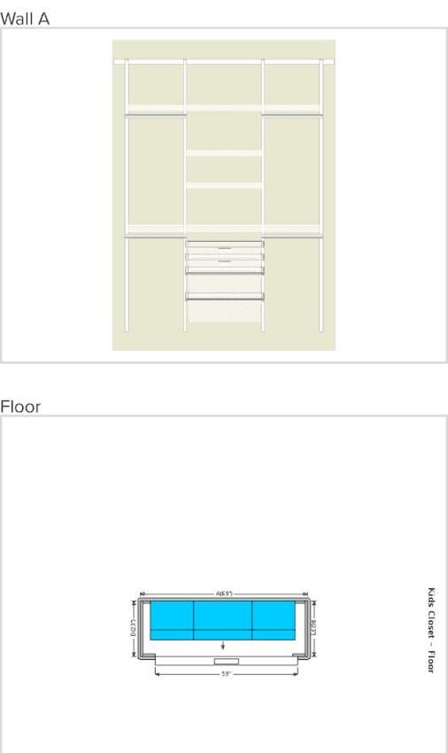 easy closet design for shared kids room