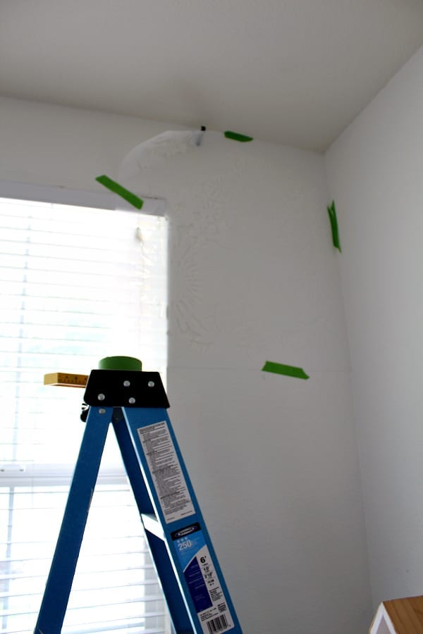 Deciding where to start your stencil is a decision you can make based on your wall and stencil.