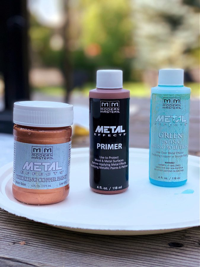Metal Effects copper paint and patina kit for that quick and easy copper patina project!