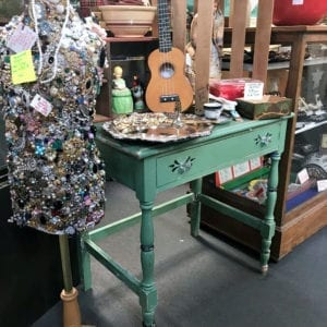 Shopping at a flea market is a great place to find vintage decor to add to your home!