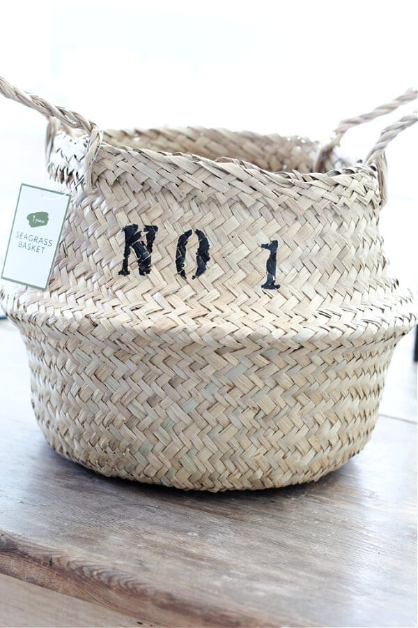 The Easy Way To Stencil A Sea Grass Basket with paint pens