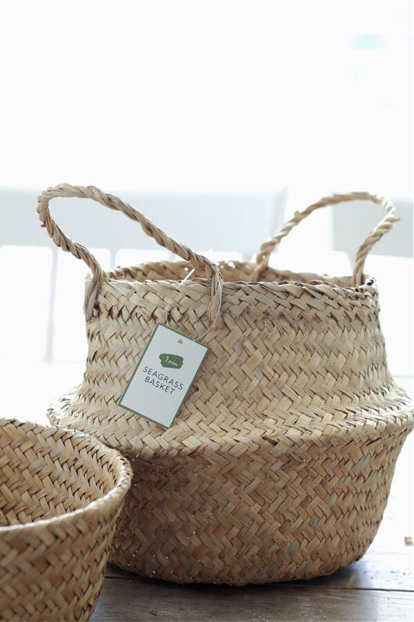 sea grass basket from Target