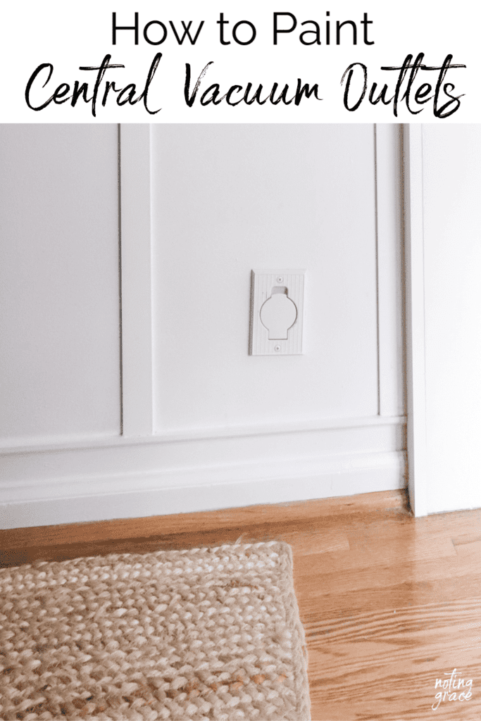 Welcome Home Sunday: How to easily paint central vac outlets