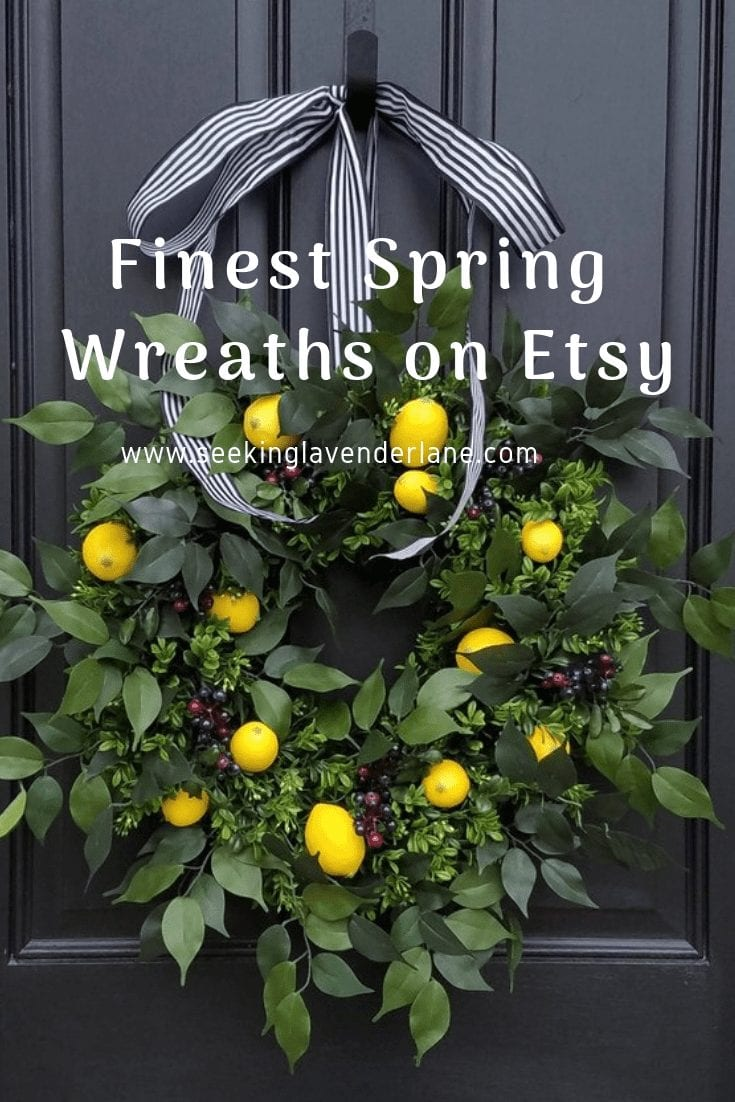 Favorite Spring wreaths on Etsy.