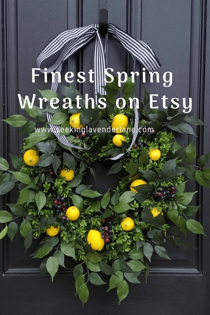Favorite Spring wreaths on Etsy.
