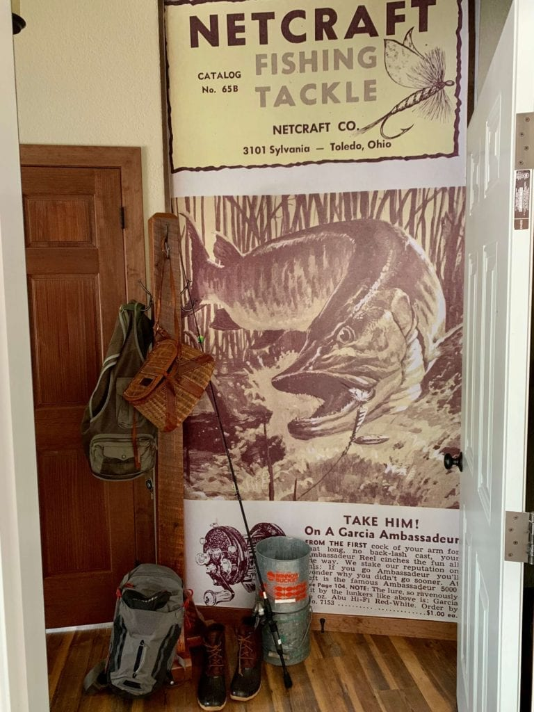 Welcome Home Sunday: Fishing ad turned into wall mural!